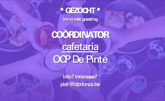 Gezocht: coördinator cafetaria OCP
